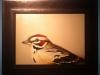 "Herb Smith, ""Lark Sparrow"" 2014, oil on panel"