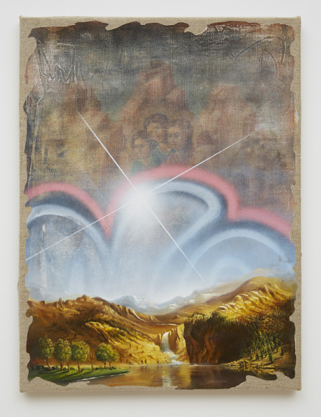 Peter Daverington, Solar Flare over the Mountains (Bierstadt in New York), 2015