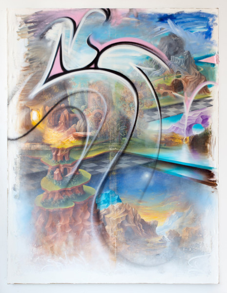 Peter Daverington, A Fragment from the Temple of Xanadu Wall Painting Frieze, 2015