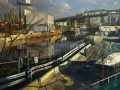 "Derek Buckner ""Gowanus"" (oil on canvas, 32x46in)"