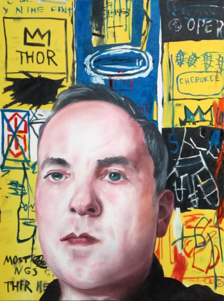 Noah Becker, Self Portrait #2 (Basquiat)