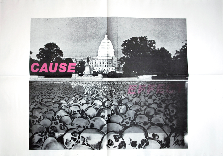 Jane Dickson / Kiki Smith / Charlie Ahearn - Cause Effect, Offset Poster, 1984
