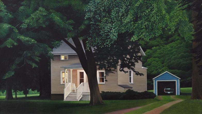 "Elizabeth Livingston, Night Fell oil on canvas 26 ""x 46"" 2014"